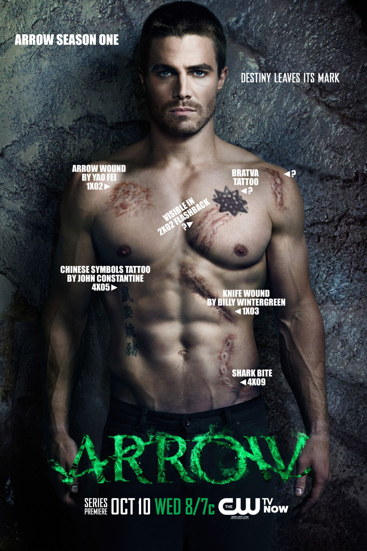 Oliver Queen Tattoo From Constantine: Pin On TV Shows
