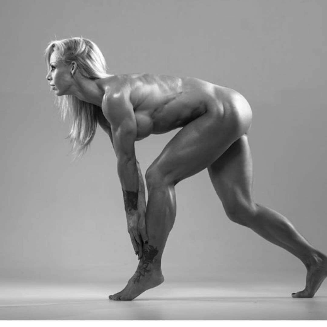 Nude fitness women black and white photography