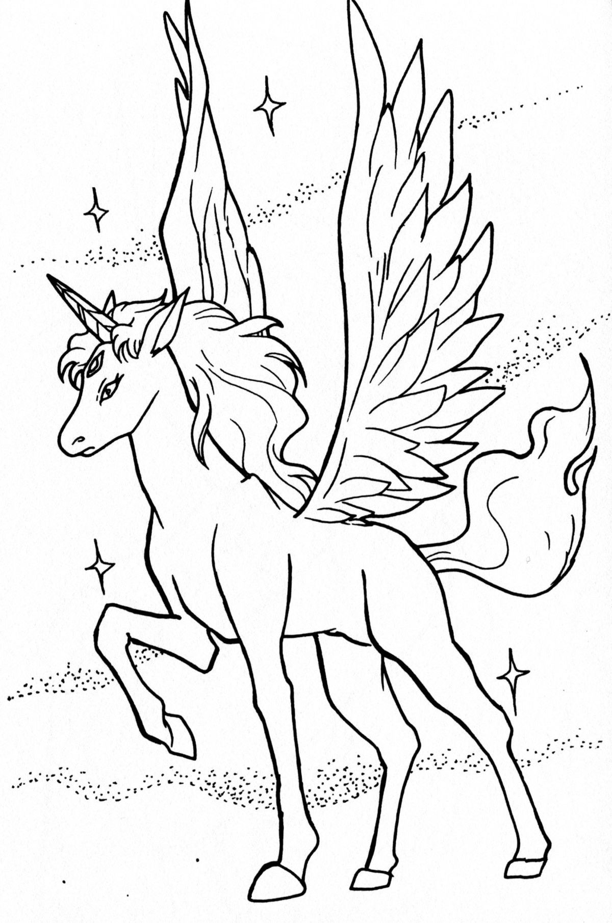 Flying Unicorn Coloring Page Youngandtae Com Sailor Moon Coloring Pages Moon Coloring Pages Unicorn Coloring Pages