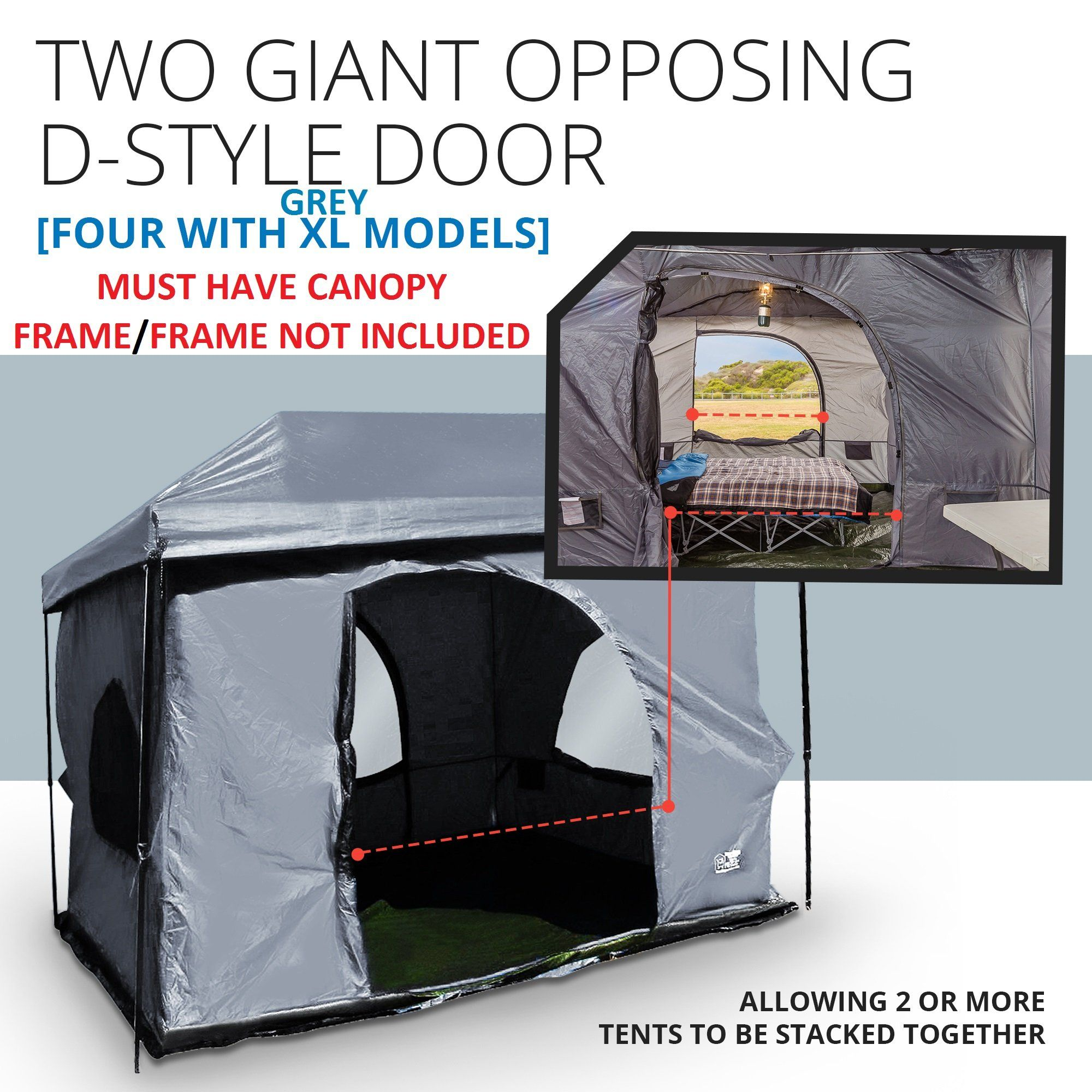 Standing Room Premium Family Cabin Tent 8 5 Of Head Room 4 Big Screen Doors Fast Easy Set Up Full Waterproof Fabric Ceiling Not L Cabin Tent Canopy Frame Tent