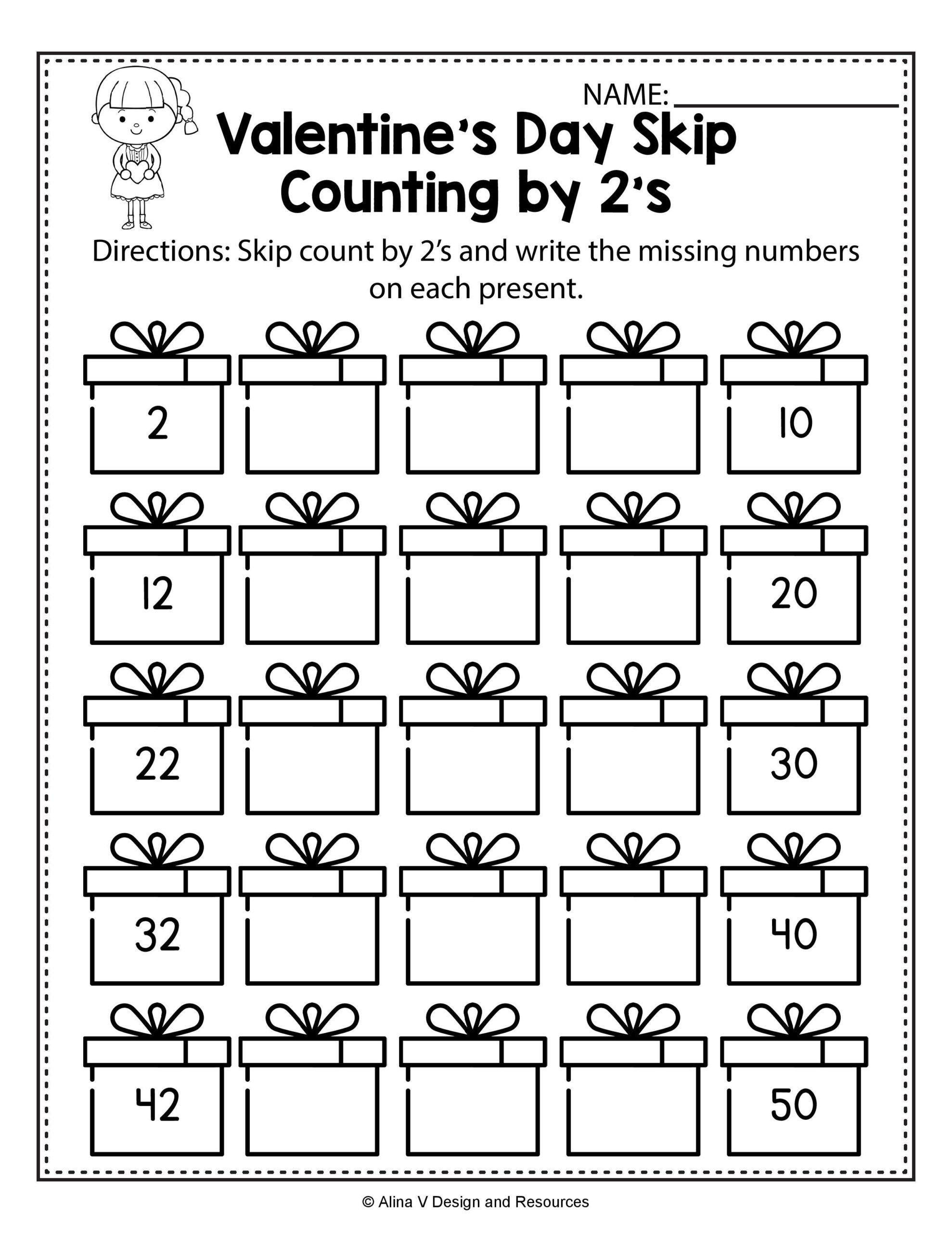 Counting On Worksheets For Kindergarten