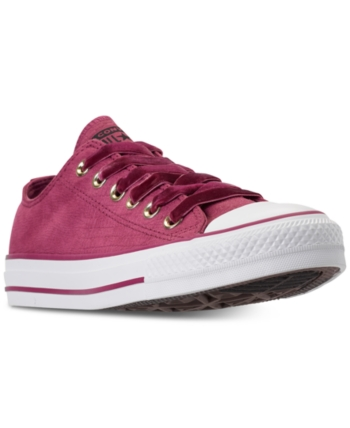 1d67196449a0 Converse Women s Chuck Taylor Ox Casual Sneakers from Finish Line - Purple  10