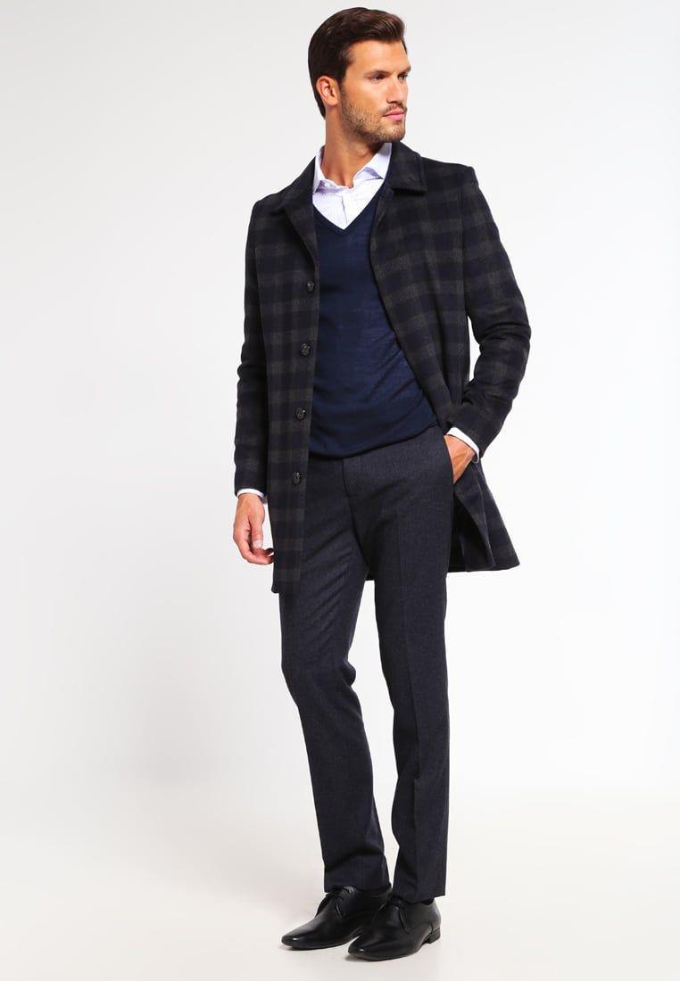 ¡Consigue este tipo de abrigo corto de Pier One ahora! Haz clic para ver  los detalles. Envíos gratis a toda España. Pier One Abrigo corto dark  blue grey  ... fb48c44af3d9