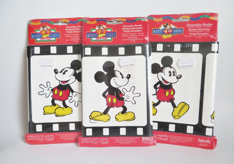 Mickey Mouse Wallpaper Border Vintage Disney Wall Border 3