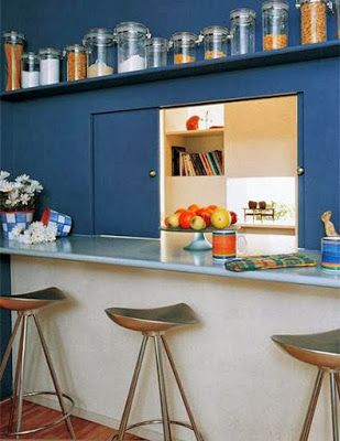 You Want To Separate The Kitchen From Dining Room But How Do That Simple Build A Separating Wall With Serving Hatch
