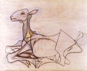 Goat sketch by Pablo Picasso