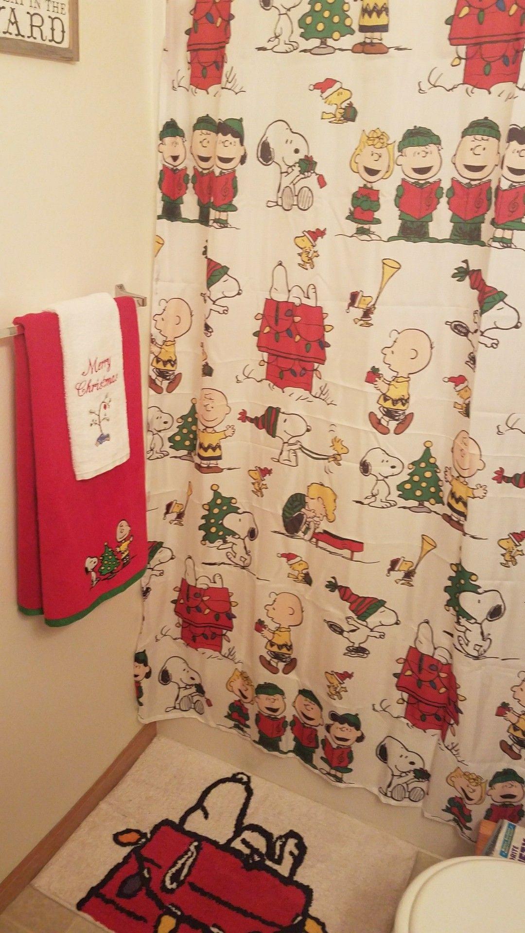 charlie brown christmas bathroom decor