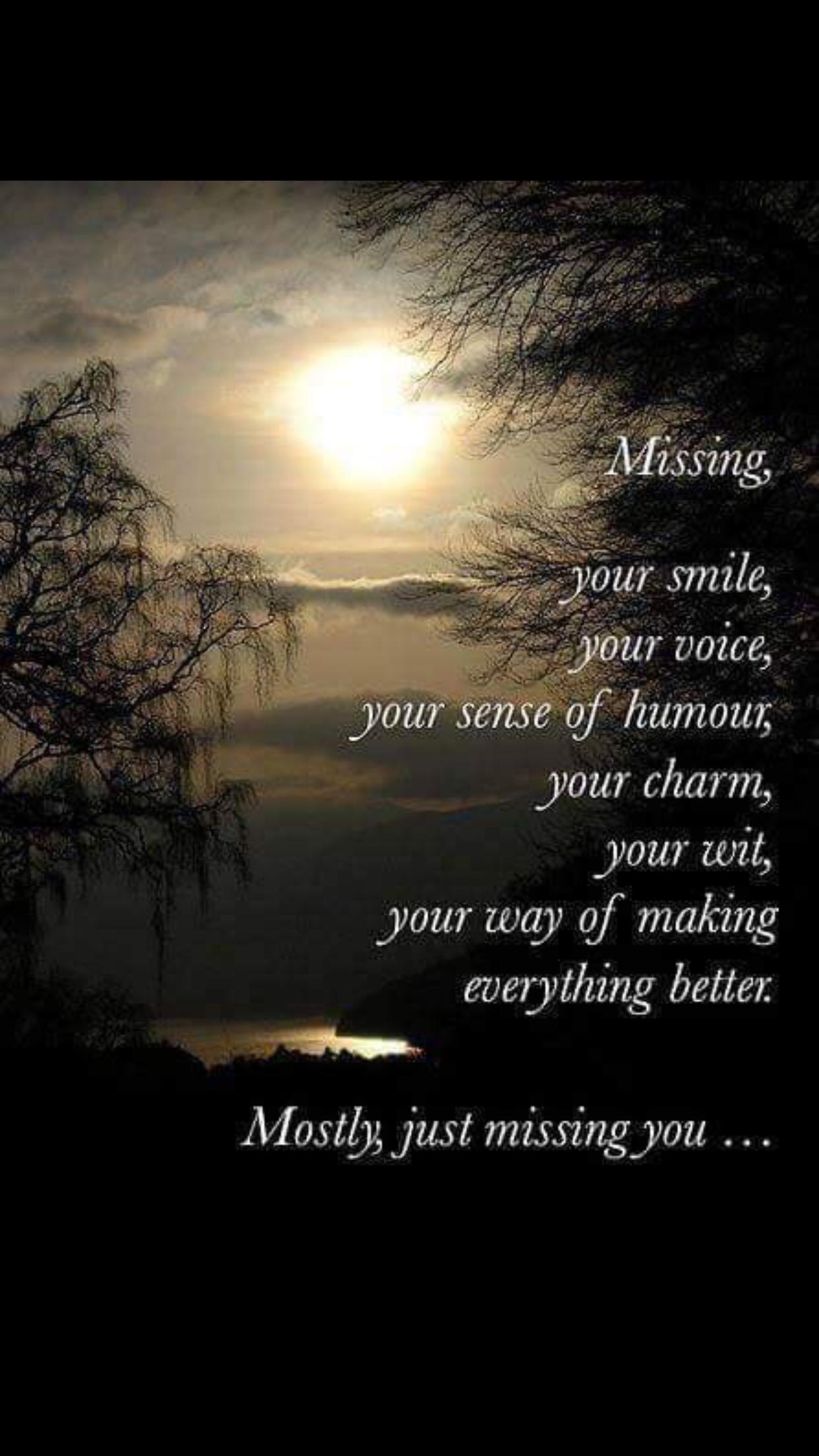 Ich vermisse dich so sehr mama
