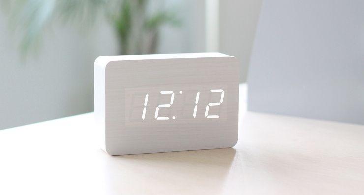 Led Wood Block Desk Alarm Clock Feelgift Alarm Clock Led Clock Clock