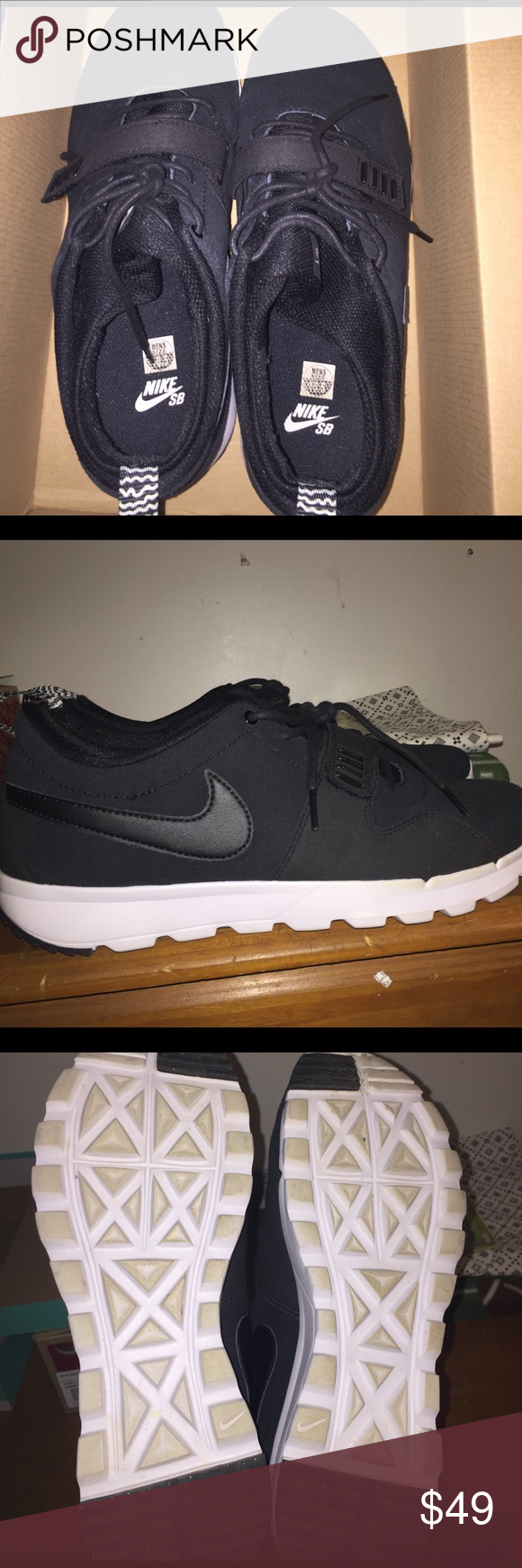 Nike SB Trainerendor Nike leather skateboarding shoe, worn twice and comes with box. Clean and come from good home, great condition! Negotiable!! Nike Shoes Sneakers