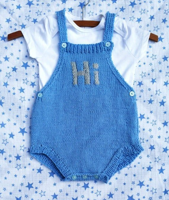 Say Hi Knitted Baby Romper pdf knitting pattern 02 yrs  Say Hi Knitted Baby Say Hi Knitted Baby Romper pdf knitting pattern 02 yrs  Say Hi Knitted Baby Romper pdf knittin...