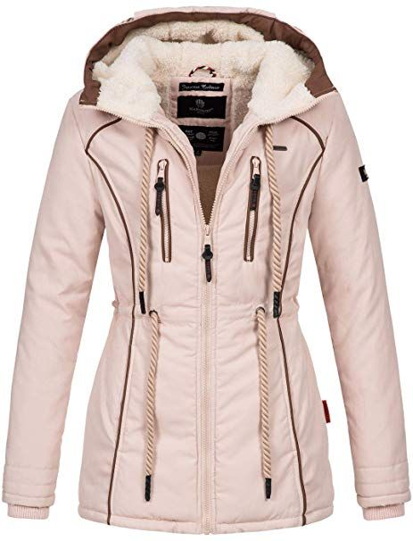 Marikoo Damen Winter Jacke warme Winterjacke Parka Mantel