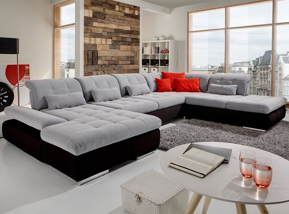 Sectional U Shape Sofa Sleeper Alpine By Nordholtz 5 595