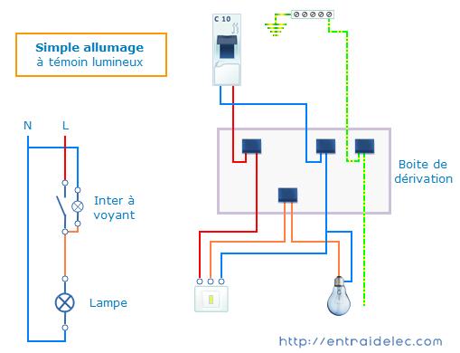 Schema De Branchement Interrupteur Simple Allumage A Temoin Lumineux Si Vous Voulez En Savoir Cablage Interrupteur Interrupteur Simple Schema Electrique