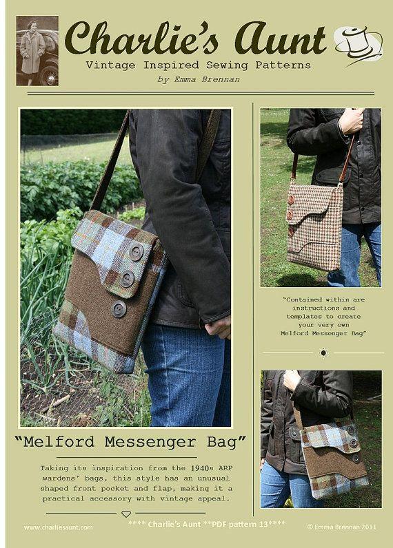Sewing pattern to make the Melford Messenger Bag - PDF pattern ...