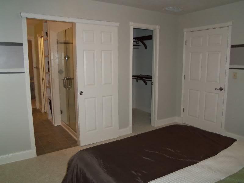 Delicieux Sliding Barn Door   Looks Like Regular Door/pocket Door Mounted On Outside  Of Wall