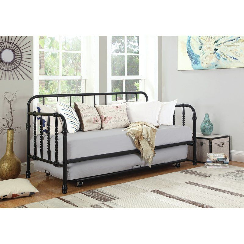 Hillsborough Twin Metal Daybed With Trundle Metal Daybed With
