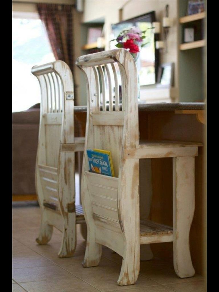 Chairs made from a crib!