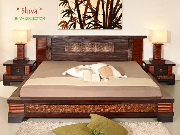 Schlafzimmer Bambus ~ Bambus bettrahmen shiva bambusmöbel für dein schlafzimmer pinterest