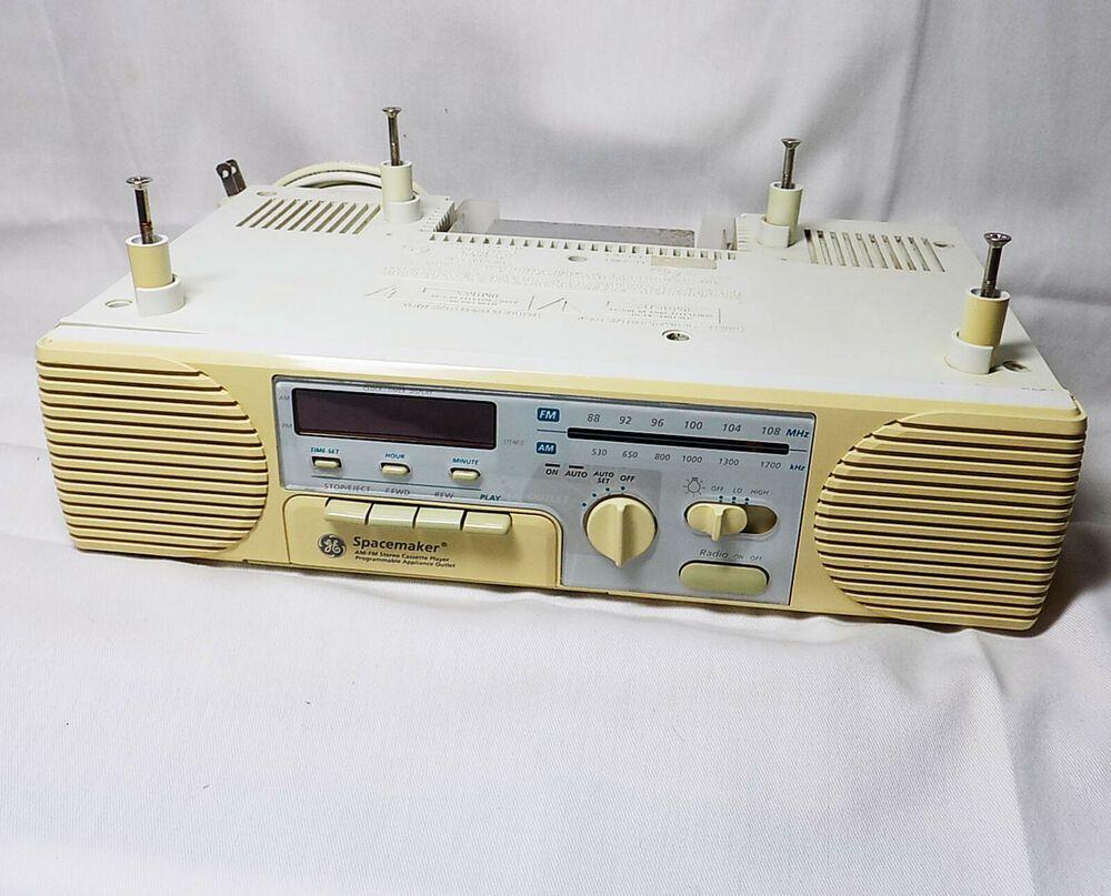 Ge Spacemaker Under Cabinet 7 4287a Am Fm Radio Cassette Player