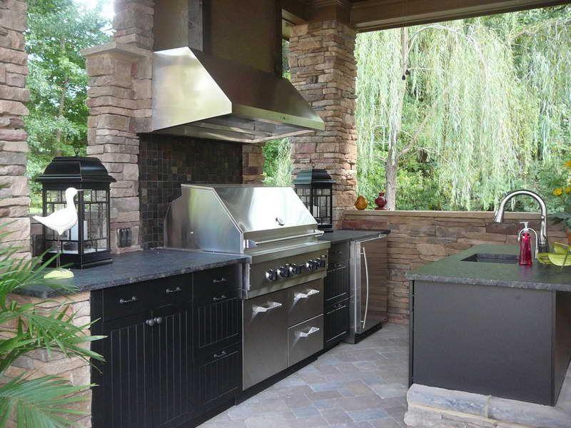 DIY outdoor kitchen barbeque Pinterest