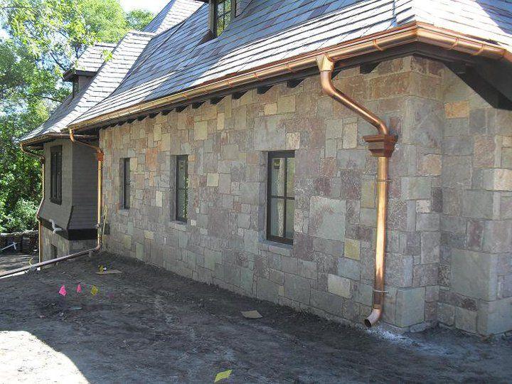 European System Copper Gutters House Exterior Gutters