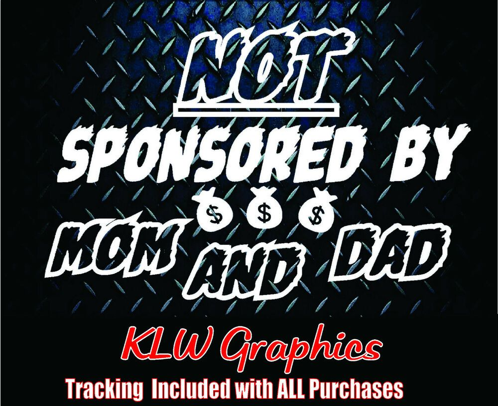 Not sponsored by vinyl decal sticker car truck funny jdm 4x4 diesel euro turbo lkl