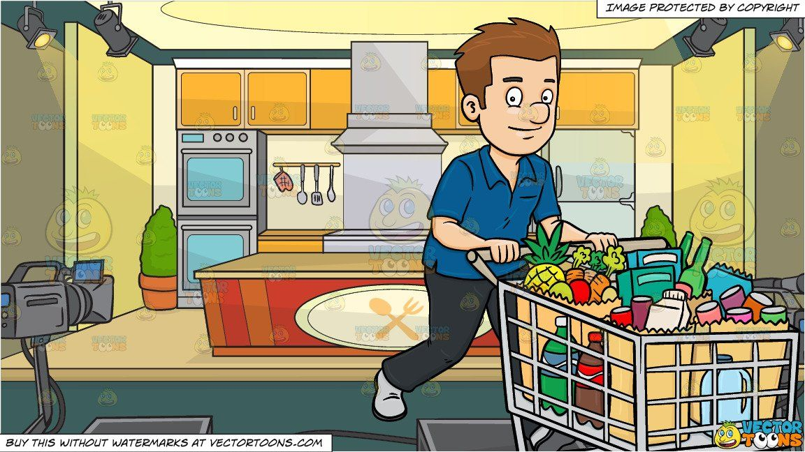 A Man Cooking Clipart