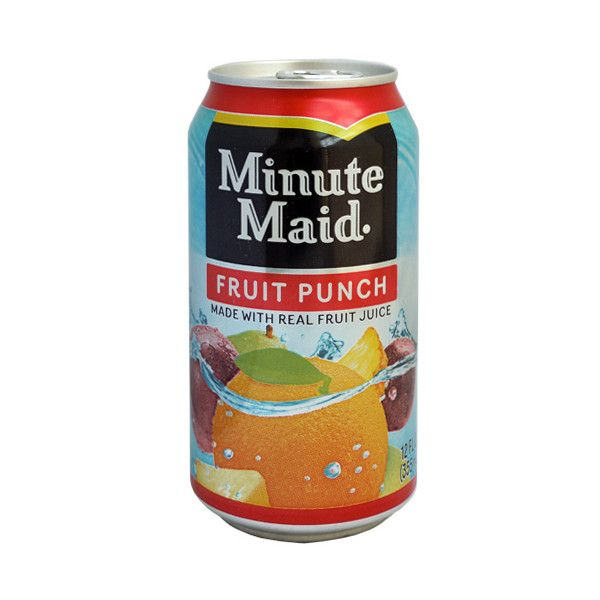 american fruit punch flavour minute maid soda single 355ml can a liked on polyvore featuring food