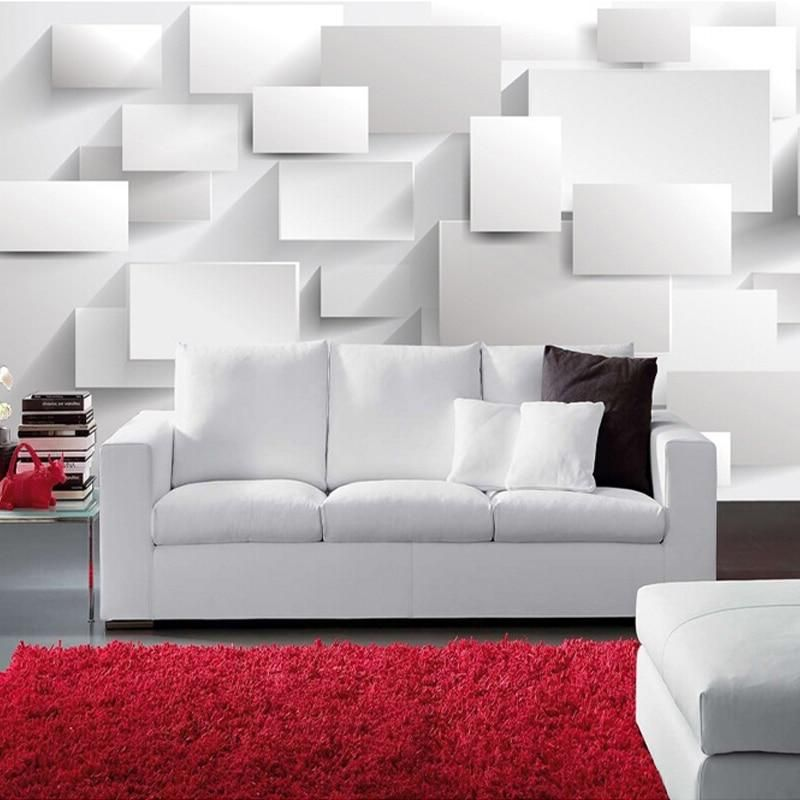 Custom Wall Mural Modern 3D Stereoscopic Large Mural
