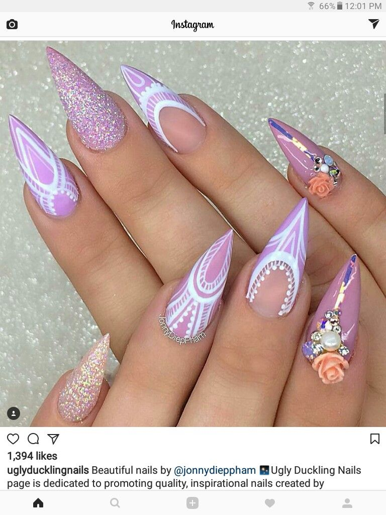 Instagram Ti Nyyyy With Images Bride Nails Nail Shapes