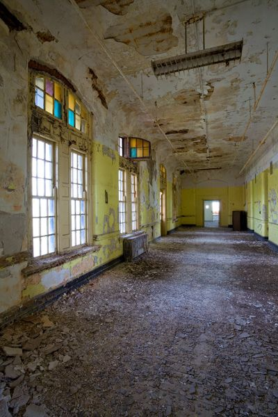 inside the H H Richardson plex or the Buffalo State Asylum for