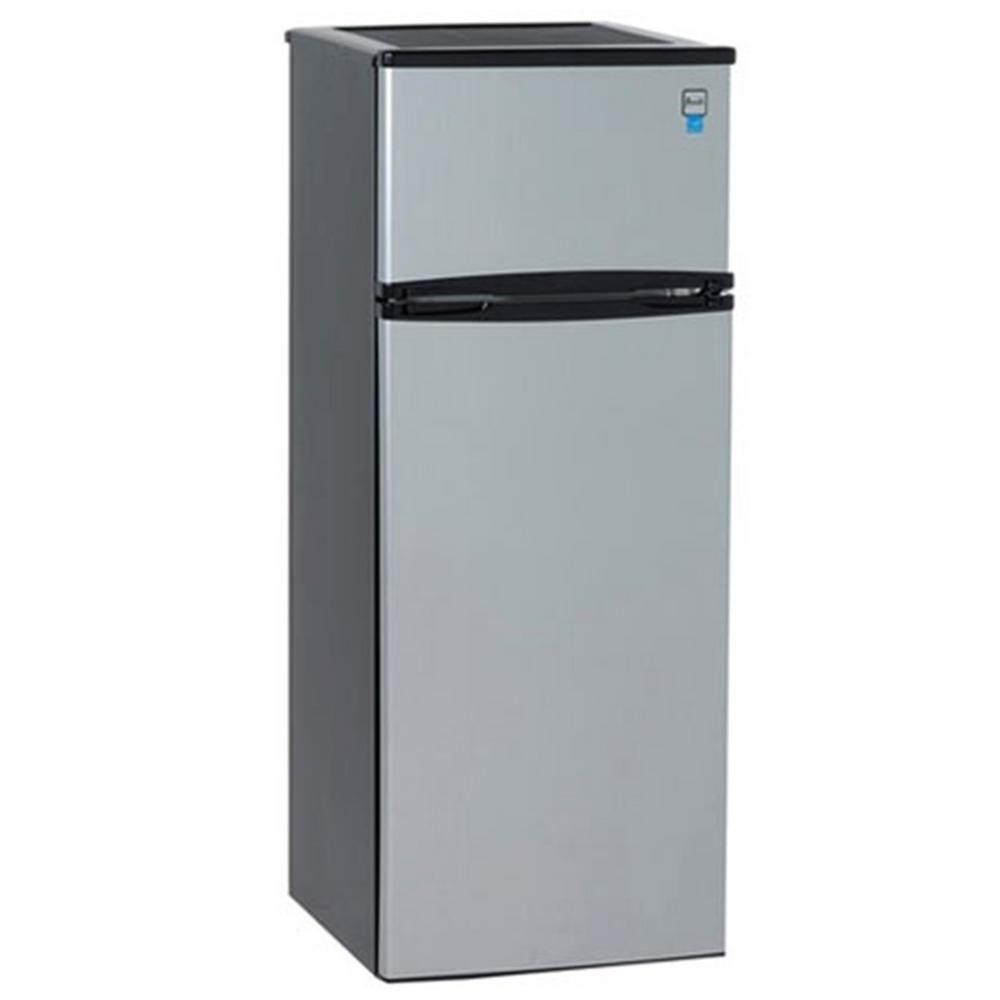 Avanti 7.4 cu. ft. Apartment Size Top Freezer Refrigerator in Black ...
