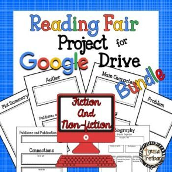Reading Fair Project Bundle For Google Drive Fiction And Non Fiction Reading Fair Fair Projects Reading Projects