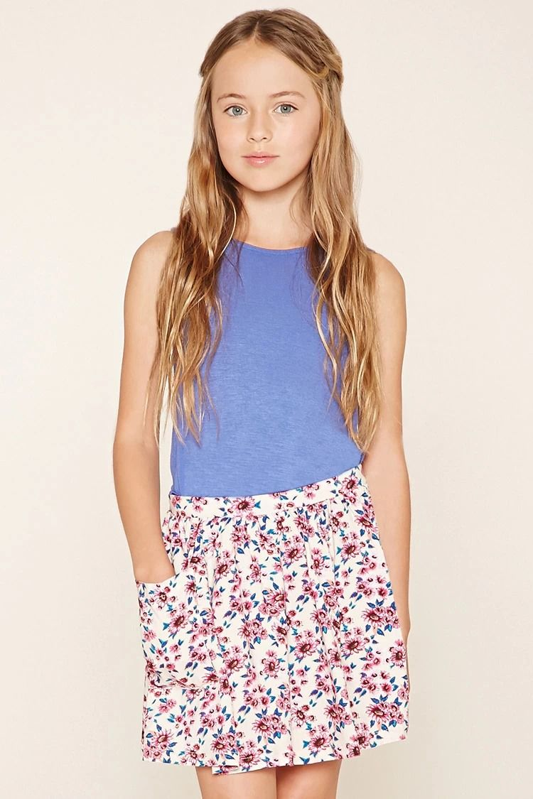 b044229c986b Girls Floral Print Skirt (Kids)  F21kids