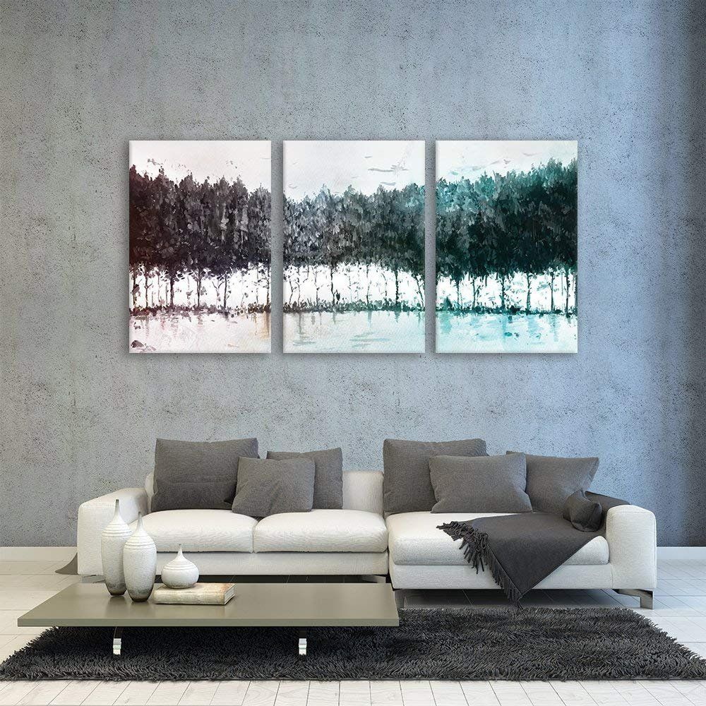 Wall26 3 Piece Canvas Wall Art Colorful Trees Modern Home Decor Stretched And Framed Ready To Hang 24 Wall Canvas Abstract Canvas Wall Art Colorful Trees