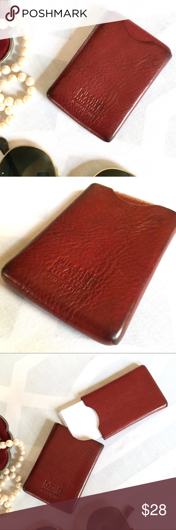 Wilsons Leather Card Id Case Key Card Holder Flaws And Italian