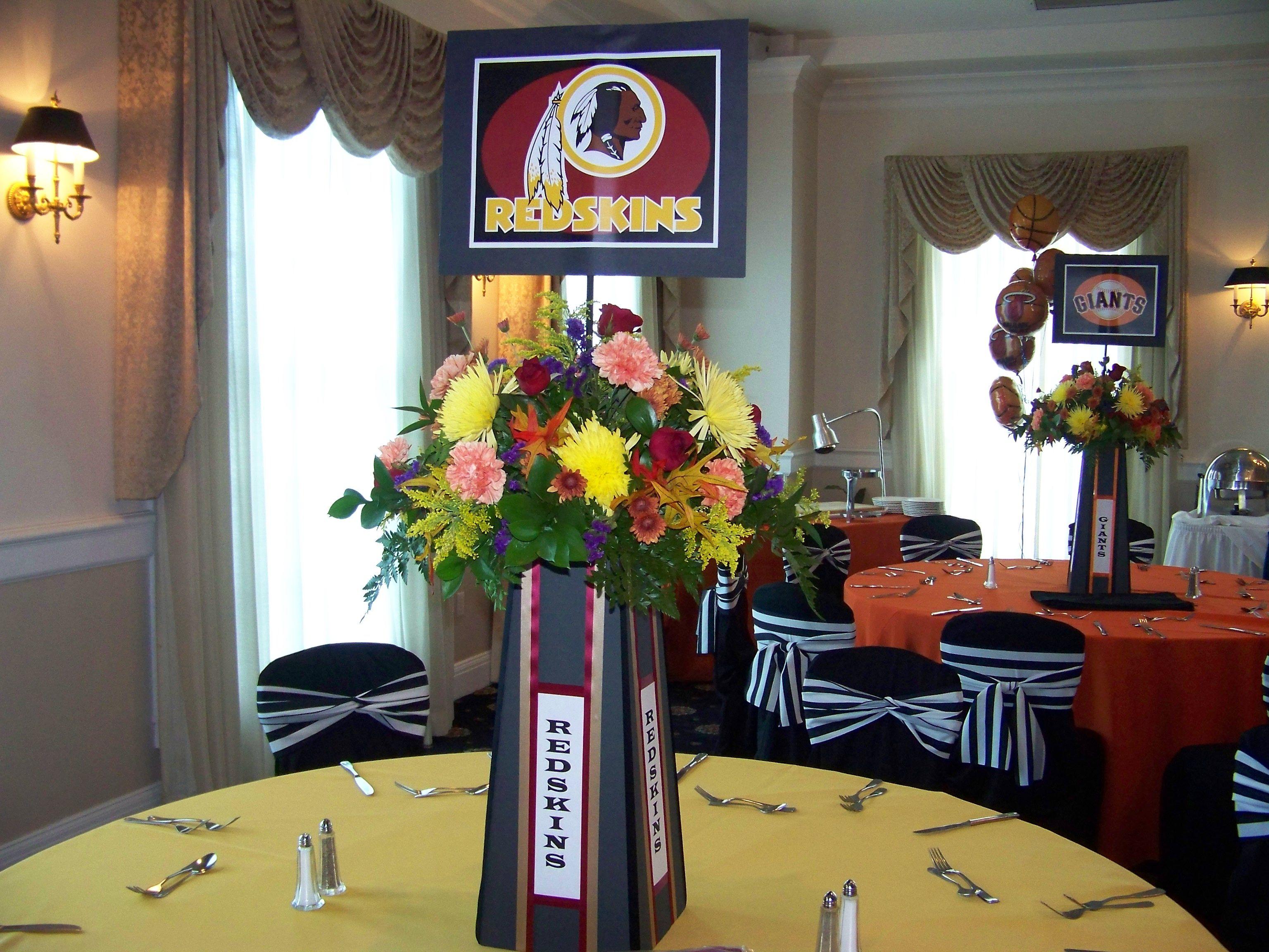 Seminole Centerpiece Sports Theme Bar Mitzvah By Omas Garden Flower