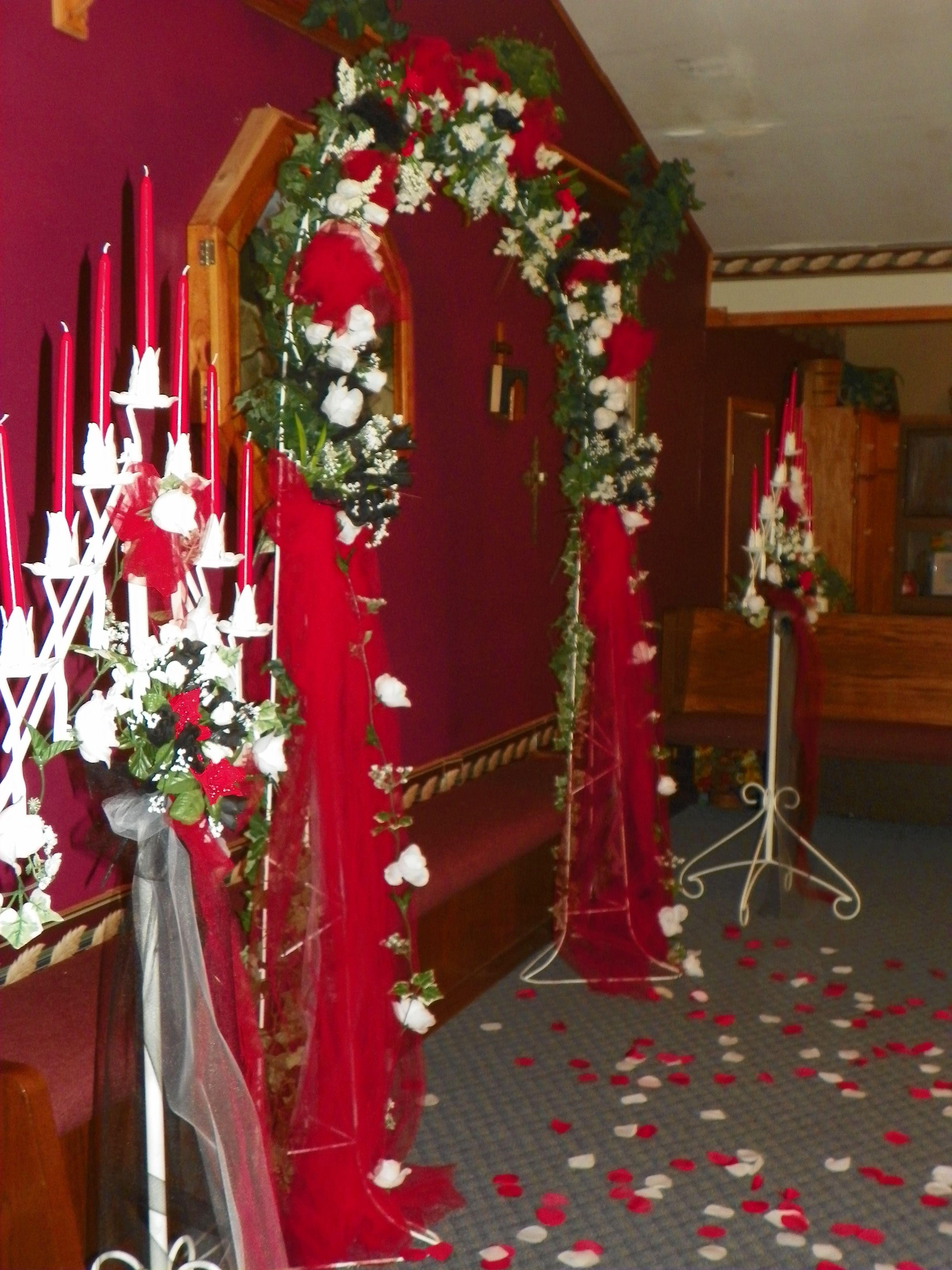 Red, White & Black Wedding Decorations