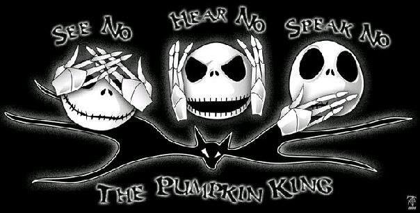 jack skellington see no evil hear no evil speak no evil