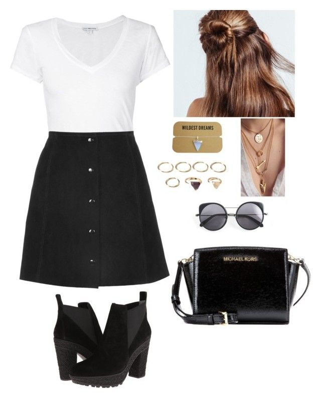"""Untitled #204"" by selenacruz-381 ❤ liked on Polyvore featuring Michael Kors, James Perse, Topshop, Diane Von Furstenberg, N.Y.L.A., Forever 21 and Wood Wood"