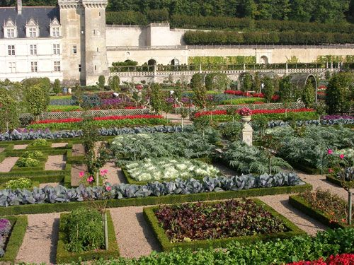 Château de Villandry herb garden in France--this was the inspiration for the Quilt Gardens in the Heartland Harvest Garden.