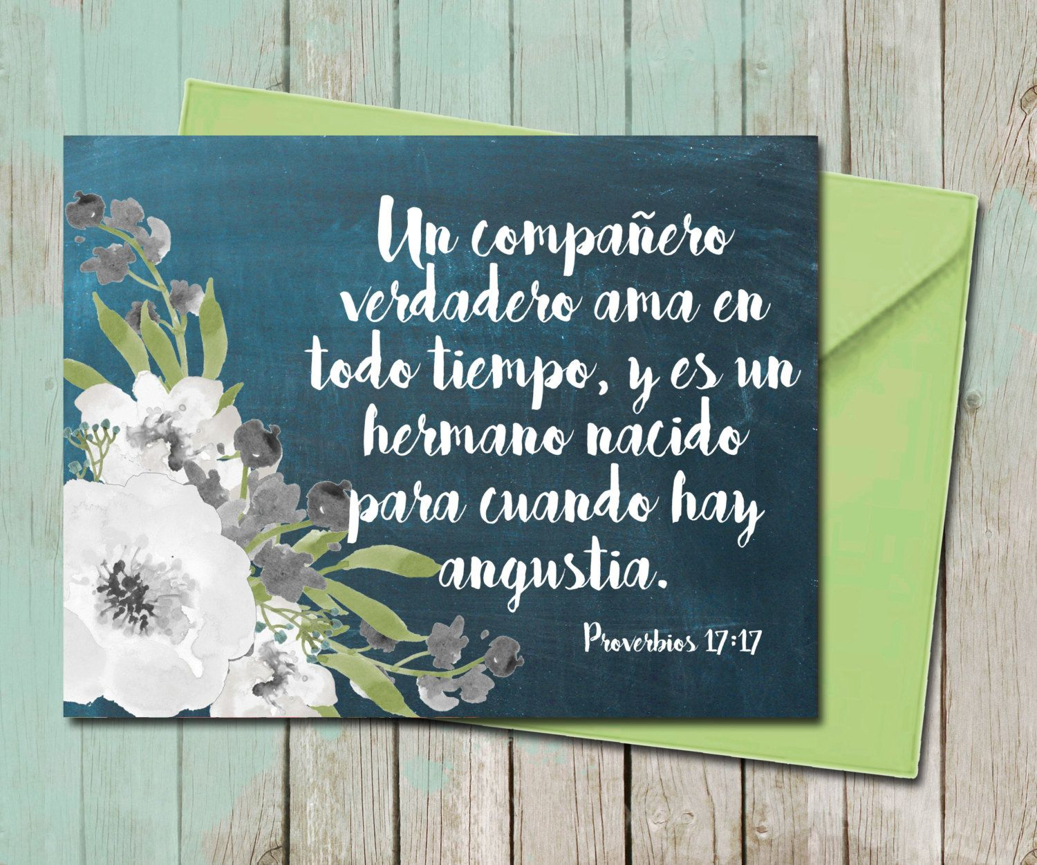 Floral friendship greeting card spanish chalkboard true friend floral friendship greeting card spanish chalkboard true friend proverbios 1717 bible verse scripture handlettering kristyandbryce Image collections