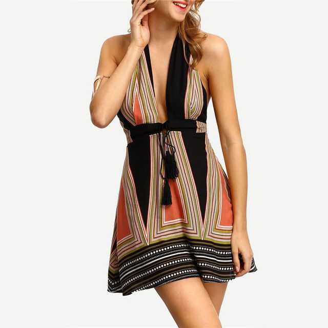 2016 new summer women loose size pregnant women skirt ladies Halter backless dress suit tether