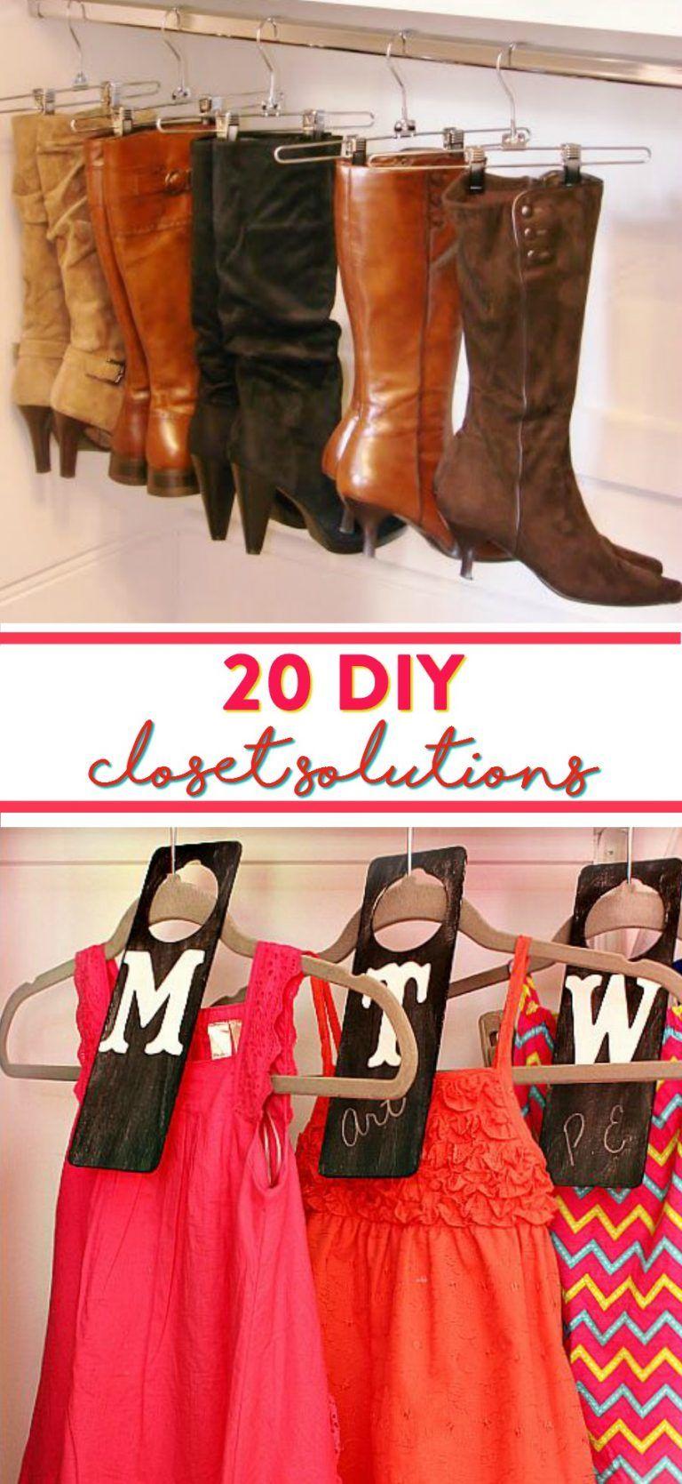 20 DIY Closet Solutions (With images) | No closet ...