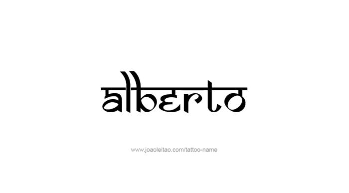 Alberto Name Tattoo Designs Name Tattoo Designs Name Tattoos Tattoo Designs