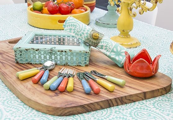 Reed Gift Fairs - this colourful cutlery from D.W.B.H. Homewares makes you want to entertain all summer long.