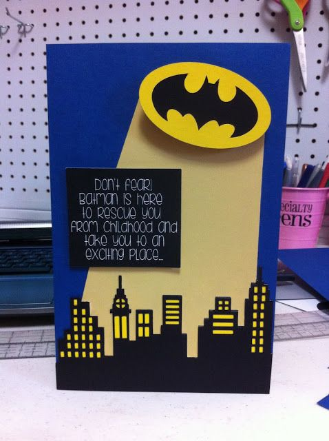 Batman Birthday Card from Pink and Paper