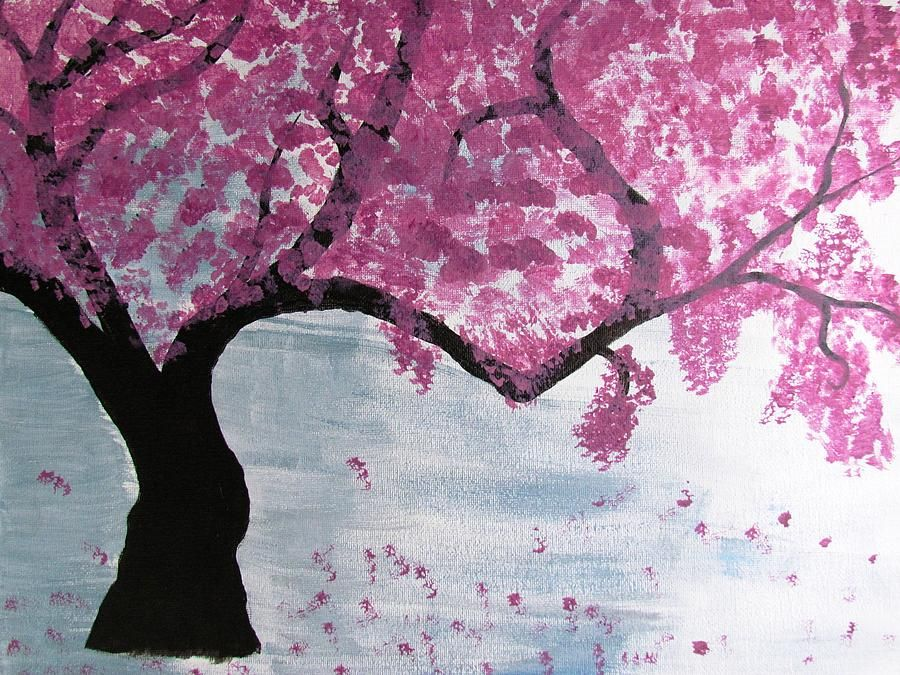 Cherry Blossom Tree Paintings For Sale Cherry Blossom Art Cherry Blossom Painting Cherry Blossom Tree
