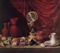 Antonio de Pereda - Naturaleza muerta con conchas y un reloj